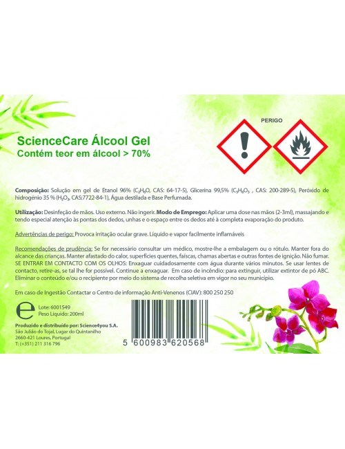Álcool Gel 200ML 70% -...
