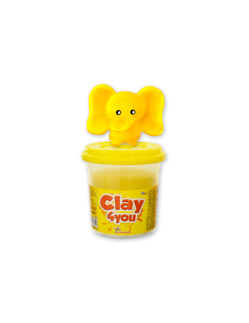 Plasticina Clay4you Amarelo