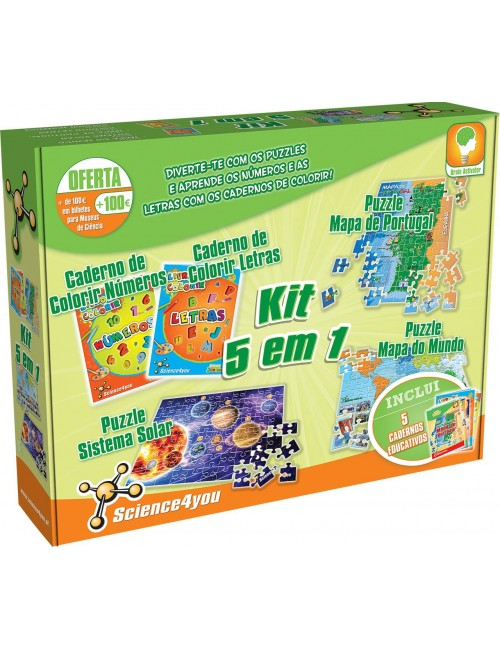 Kit 5 em 1 Puzzles